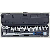 Динамометрический ключ в наборе со сменными насадками, 11пр., 40-210Нм LICOTA AQC-S001NM
