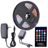HML водонепроницаемый светодиодный прожектор 5M 24W RGB SMD2835 300 светодиодов-с ИК-клавиатурой 20-клавишный пульт дистанционного управления и