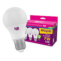 Комплект светодиодных ламп 3шт B60 PA10L 7W E27 4000K ELM