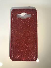 TPU + PC Силикон LGD Gloss Series for Samsung G570 / Galaxy J5 Prime (2016) Red (красный)