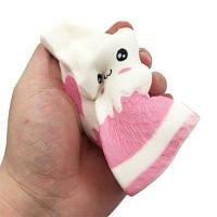 Смешные Squishy игрушка, сделанные Enviromental PU Материал Реплика Молоко Box для разных возрастных групп 1PCS Белый