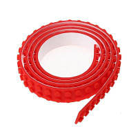 60CM петли ленты ленты блок гибкие гибкие уголки образовательные DIY базовая лента игрушки кирпича Красный
