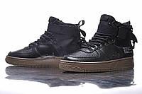 Женские кроссовки Nike SF Air Force 1 Utility Mid Black/Grey