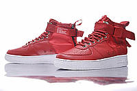 Женские кроссовки Nike SF Air Force 1 Utility Mid Red/White