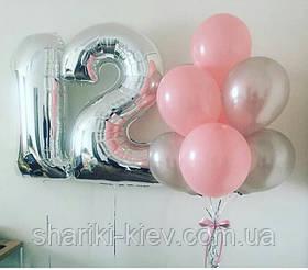 Набір куль Цифри і 9 кульок на День народження