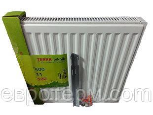 Стальной радиатор Terra teknik 11k 500*500 боковое подключение