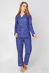 Женская хлопковая пижама Соната синяя сердца