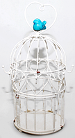 777-063 Декоративная клетка с крючками 31 см ,белый