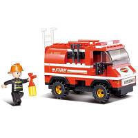 Sluban Building Blocks Обучающие игрушки для детей Mini Fire Truck 133PCS Красный