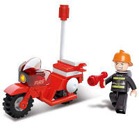 Sluban Building Blocks Обучающая детская игрушка Fire Police Motor 25PCS Красный