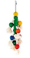 Игрушка Fop 61000170 для попугаев деревянная с шариками цветная 37,5 см