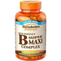 Sundown naturals B super maxi complex 200 caps.
