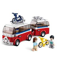 Sluban Building Blocks Обучающая детская игрушка Camper 324PCS