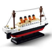 Sluban Building Blocks Обучающие игрушки для детей Маленький корабль 194PCS