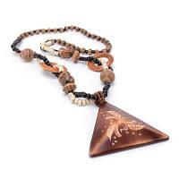 Женщины Девушки Длинный Свитер Цепь Дерево Треугольник Подвеска Ожерелье Мода Ювелирные Подарки загар