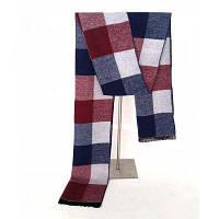 Новый тренд Зимний стиль Плед Мужские шарфы Хлопок Утолщение Теплый мужской шея Бордовый цвет