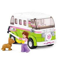 Sluban Building Blocks Обучающие игрушки для детей Touring Wagon of Friends 158PCS