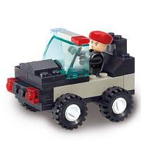 Sluban Building Blocks Обучающая детская игрушка Маленькая полицейская машина для полицейских 45PCS разные цвета
