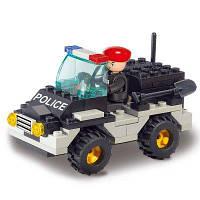 Sluban Building Blocks Обучающая детская игрушка Riot Police Jeep Car 88PCS разные цвета