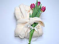 Флисовый халат (Велсофт) светлый персик