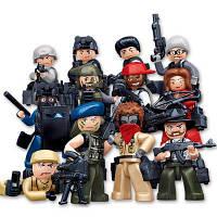 Sluban Building Blocks Обучающая детская игрушка 12 моделей Ассорти полиции разные цвета