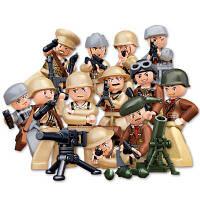 Sluban Building Blocks Обучающая детская игрушка 12 моделей ассорти Army Set Military Toys разные цвета