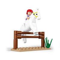 Sluban Building Blocks Обучающая детская игрушка Eqestrain Horse Toy 20PCS СМЕШИВАНИЕ