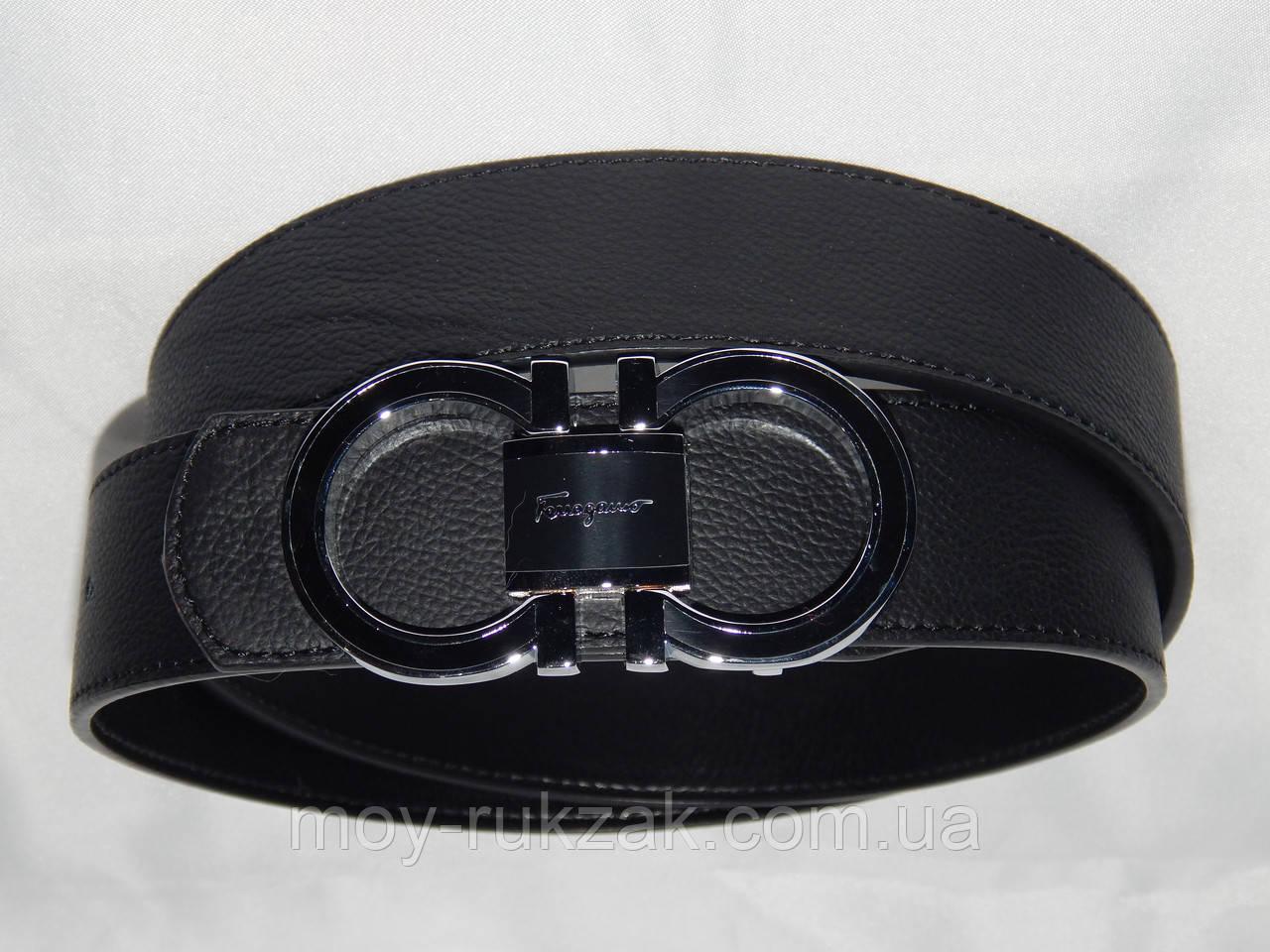 Ремень мужской кожаный Ferragamo ширина 40 мм, реплика 930562