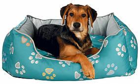 Лежак Trixie Jimmy нейлон и флис с принтом, бирюзовый, 75х65 см