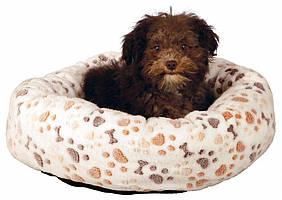 Лежак Trixie Lingo плюшевый, с рисунком, 60х55 см