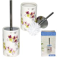 888-05-007 Туалетный ершик с подставкой 'Орхидея' 33,5*10 см