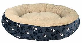 Лежак для собак Trixie Tammy плюшевий, синьо-бежевий, 50 см (37377)