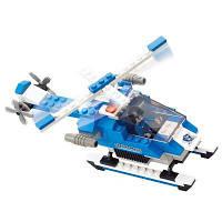 Sluban строительные блоки образовательные игрушки вертолета армии дети из городской полиции 133ПК Синий