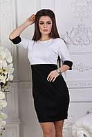 Женское платье, французский трикотаж, р-р 42-44; 46-48 (белый)