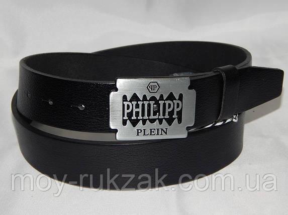 Ремень мужской кожаный PHILIPP PLEIN ширина 40 мм. 930568, фото 2