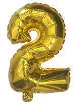 Фольга цифра №2 - 35см золото