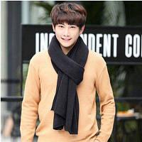 Осень Кашемир Мужчины Чистый Корейский Дамы девочек Зимний шарф 200cм30cм