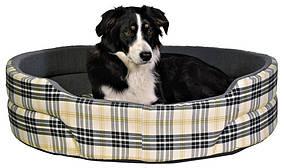 Лежак Trixie Lucky бавовна і штучна шерсть, картатий, 55х45 см
