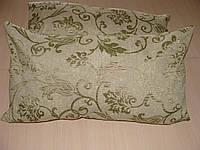 Комплект подушек салатовые завитки,2шт, фото 1