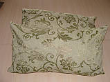 Комплект подушок блакитні квіточки, 2шт 53смх29см, фото 2