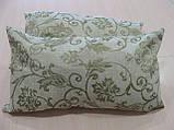 Комплект подушок блакитні квіточки, 2шт 53смх29см, фото 3