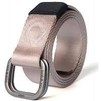 Быстрая сухая двойная кольцевая металлическая пряжка Широкий нейлоновый ткацкий пояс для мужчин Хаки