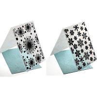 Пластиковая тиснение папки Снег Рождество DIY Скрапбукинг фотоальбом Бумага ремесла украшения Шаблон Mold Card 2PCS Цветной