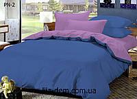 Двуспальный комплект постельного белья Поплин 100% хлопок. Простыня на резинке