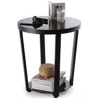 Круглый стол с верхним торцевым столом для гостиной Стол для столовой стола, черный Чёрный