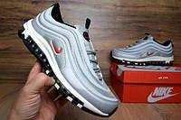 Мужские повседневные кроссовки Найк Аир Макс 97 hyperfuse серебро с серым