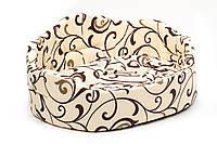 Лежак Природа Романтика 1, хлопковая ткань, 45х33х24 см