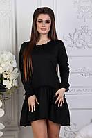 Женское платье, французский трикотаж, р-р 42-44; 46-48 (чёрный)