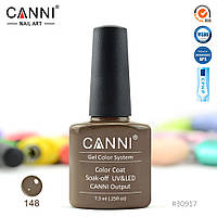 Гель-лак Canni 148 серо-коричневый 7.3ml