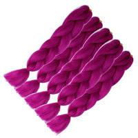 5pcs 1 Tone Ombre Jumbo Плетение наращивания волос 24-дюймовые вязальные крючки Kanekalon синтетическое волокно Twist 5 наборов 24 дюйма*24 дюйма*24